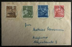 1943 Schwerin Germany Cover B237/240 Labor Corps Stamps