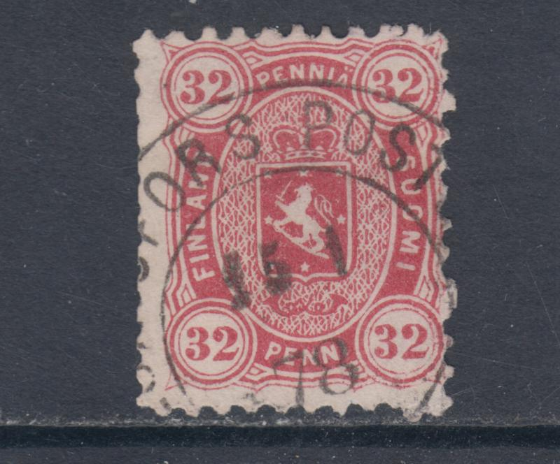 Finland Sc 23a used 1875 32p rose Queen Victoria, usual centering, scarce
