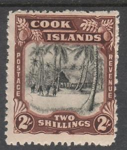 COOK ISLANDS 1944 PICTORIAL 2/- MNH ** WMK MULTI STAR NZ