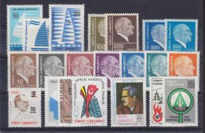 Turkey Sc 2056-2084 MNH. 1977 issues, 8 cplt sets VF