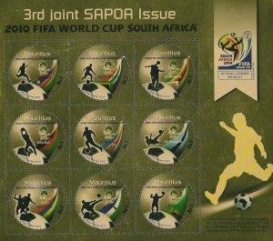 Mauritius 2010 SAPOA FIFA World Cup (Rare) (ss/9v). MNH