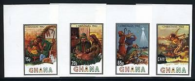 GHANA SCOTT# 817-20 CHRISTMAS 1982 IMPERF SET MNH