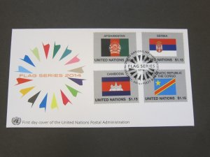 United Nations (NY) 2014 Sc 1083-86 FDC