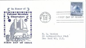 #966 FDC, 3c Palomar Mountain Observatory, Sanders