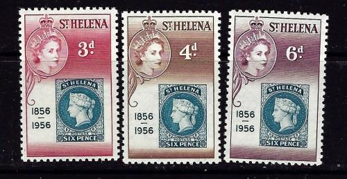 St Helena 153-55 NH 1953 Stamp on Stamp