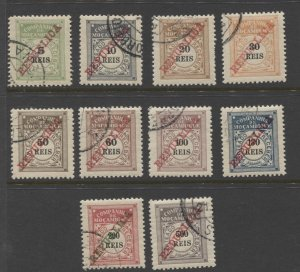 STAMP STATION PERTH - Mozambique Co. #J11-J20 Full Set CTO