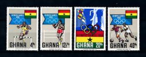 [93149] Ghana 1969 Olympic Games Mexico Football Boxing  MNH