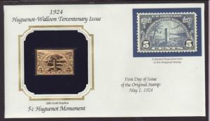US Huguenot Walloon Monument Gold Foil Cover BIN