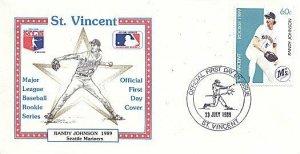 ST. VINCENT 1989 BASEBALL RANDY JOHNSON SEATTLE FDC