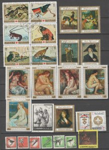 COLLECTION LOT # 09L MANAMA 42 STAMPS CLEARANCE