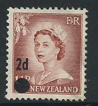 New Zealand SG 763 Surch 2d Used