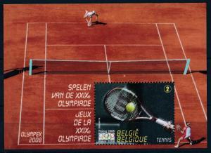 [61932] Belgium 2008 Olympic Games Beijing Tennis Sheet MNH