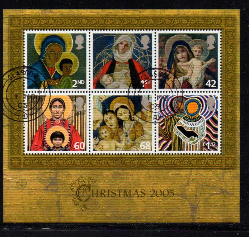 Great Britain Sc 2327 2005 Christmas stamp sheet used