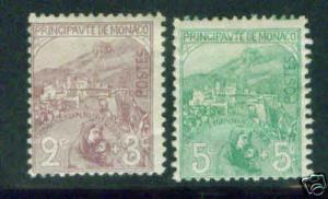 MONACO Scott B2-3 semi postal stamps 1914 CV$50