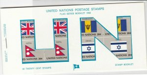 United Nations Mint Never Hinged Flags Stamps Booklet ref R 18471