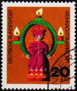 Germany. 1971 20pf+10pf S.G.1611 Fine Used
