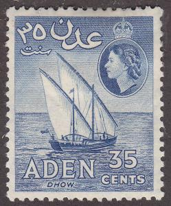 Aden 52 Hinged 1953  Dhow