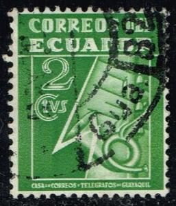 Ecuador #RA29 Post and Telegraph Service Symbol; Used (0.25)