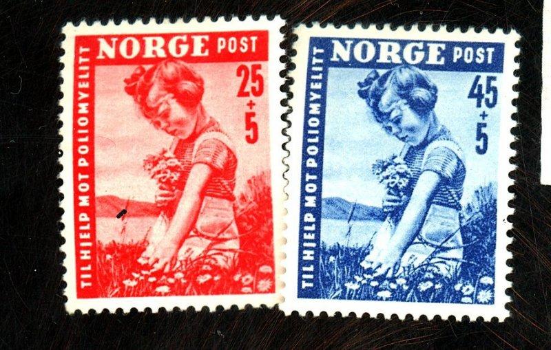 NORWAY #B48-9 MINT FVF OG LH Cat $12