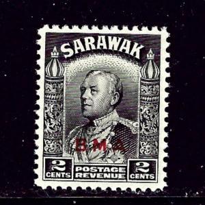 Sarawak 136 MNH 1945 overprint