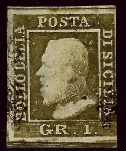 Sicily SC#12h Used VF SCV$180.00 ...Worth a Close Look!