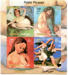 Somalia 2005 PABLO PICASSO Nudes Paintings Sheet Imperforated Mint (NH)