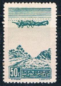 French Morocco C27 MLH Plane over Oasis 1944 (F0129)+