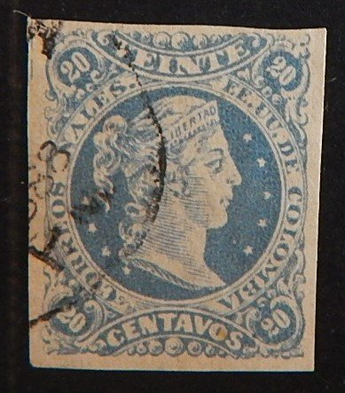 Columbia, 1876, Liberty Head, SC #75aA32, 20c, (2132-T)
