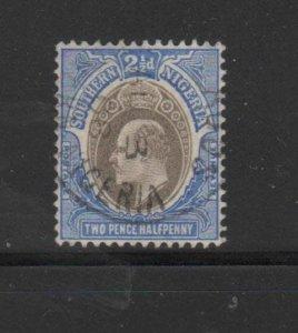 SOUTHERN NIGERIA #24  1906  2 1/2p  KING EDWARD VII       F-VF USED