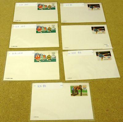 Olympic Collection Mint USA Stamp Postcards 7qty