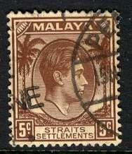 Straits Settlements: 1937; Sc. # 241; O/Used Single Stamp