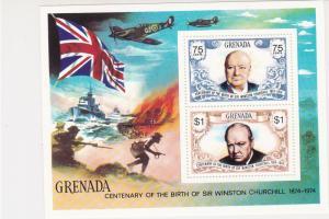 Grenada Centenary of Birth Sir Winston Churchill MNH Mini Stamps Sheet Ref 27113