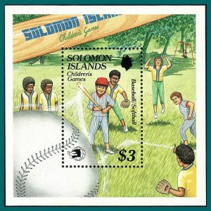 Solomon Islands 1989 Childrens Games, Stamp Expo, MS MNH #652,SGMS661