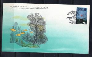Virgin Is. FDC card Sc 349 Cousteau Society Black Coral L6
