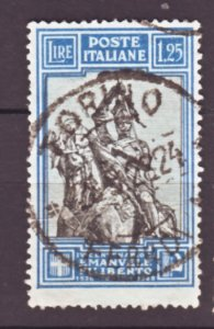 J22549 Jlstamps 1928 italy used #206 statue