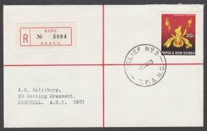 PAPUA NEW GUINEA 1969 Reg cover - Relief No.9 cds  ex BANZ..................M307