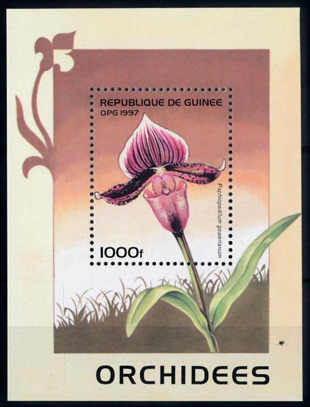 [67314] Guinea 1997 Flora Flowers Blumen Orchids Souvenir Sheet MNH