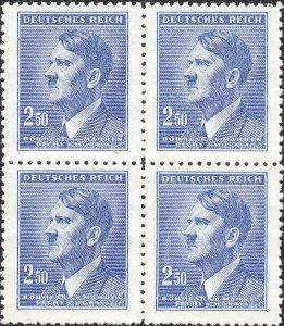 Stamp Germany Bohemia B&M Mi 101 Sc 74 Block 1942 WW2 Fuhrer Hitler MNH