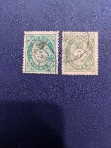 Norway 39, 39a F-VF, CV $10