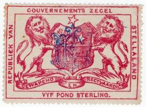 (I.B-BOB) Stellaland (Bechuanaland) Revenue : Duty Stamp £5