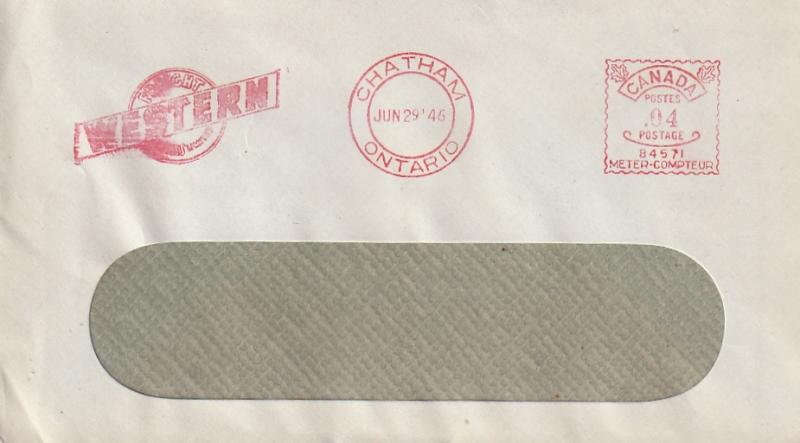 Canada 1946 Metered Mail Envelope