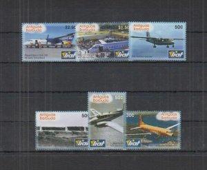 Antigua & Barbuda MNH Set Of Aircraft