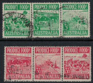 Australia #252a,5a  CV $16.75