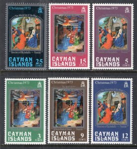 Cayman Islands 314-319 Christmas MNH VF