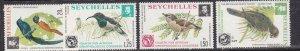 SEYCHELLES ^^^^# 357-360 MNH set  ( BIRDS) $$@ lar 512sey12