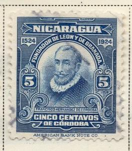 Nicaragua 1924 Early Issue Fine Used 5c. 323652
