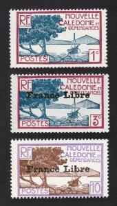 NEW CALEDONIA LOT SCOTT #136, #219, & #222 MNH-OG