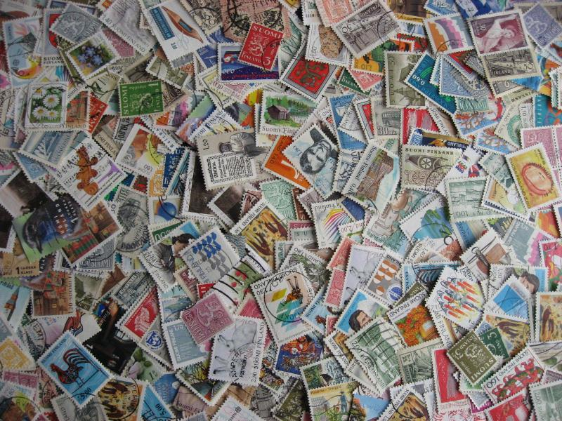 Finland elusive mixture (duplication,mixed condition) about 500 stamps