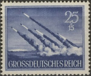 Stamp Germany Mi 884 Sc B268 1944 WW2 3rd Reich Shell Mortar Wehrmacht MNG