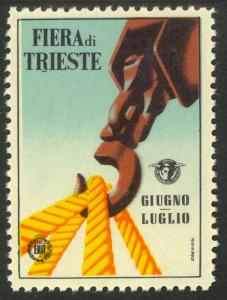 ITALY c1950s TRIESTE FAIR LABEL MNH